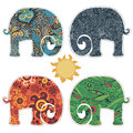 Set of four elephants applications