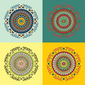 Set of four ethnic motifs Royalty Free Stock Photo