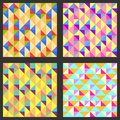 Set of four geometric pattern texture with vector illustration for your abstract design triangles rhombs mosaic can be used for Royalty Free Stock Photos