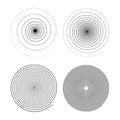 Set of four infinity black swirls on white Royalty Free Stock Photo