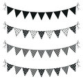 A set of four lines of bunting Stock Photo