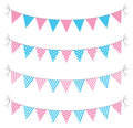 A set of four lines of bunting Royalty Free Stock Photo