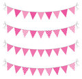 A set of four lines of bunting Stock Photography