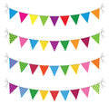 A set of four lines of bunting Royalty Free Stock Images