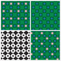 Set of four lotus leaf pattern for background and other Royalty Free Stock Photo