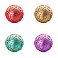 Set of four Luxurious christmas balls Royalty Free Stock Photo