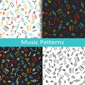 Set Of Four Music Patterns Wit...