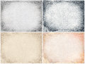 Set four old texture frame grunge style Royalty Free Stock Photos