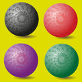 A set of four openwork ball Royalty Free Stock Photo