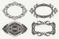 Set of four ornate frames Royalty Free Stock Photo