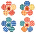 Set of four patchwork flower. Stock Images
