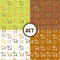Set of four patterns with arm animals Royalty Free Stock Photo