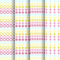 Set of four  patterns background each full-size vector Royalty Free Stock Photo