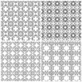 Set of four seamless abstract grids Royalty Free Stock Photo