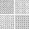 Set of four seamless grids Royalty Free Stock Photo
