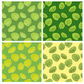 Set of four seamless pattern with leaf abstract texture endless background can be used for wallpaper Stock Image