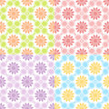 Set of four seamless patterns. Stock Photo