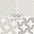 Set of four seamless patterns. Royalty Free Stock Photo