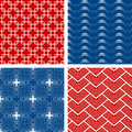 Set of four seamless patterns Royalty Free Stock Photo