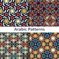 Set of four seamless vector arabic patterns