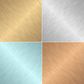 Set of four square metal textures illustration Royalty Free Stock Images