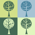 Set of four tree vector curves curls Royalty Free Stock Photo