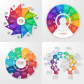 Set of four vector infographic templates. 10 options