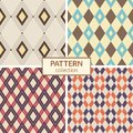 Set of four vector seamless patterns.