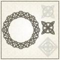 Set of frame and element for design. Celtic motifs.