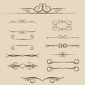 A set of frames, ornaments monograms for Text and web in vector Royalty Free Stock Photo
