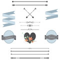 A set of frames and page dividers Royalty Free Stock Photo