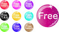 Set of free badge Royalty Free Stock Photo