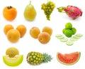 Set of fresh fruits Royalty Free Stock Photo