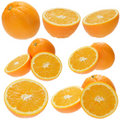 Set of fresh orange fruits Royalty Free Stock Photos