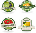 Set of Fresh Organic Fruit Labels