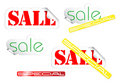 Set of fresh sale labels Royalty Free Stock Photo