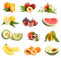 Set of freshness fruits Royalty Free Stock Photo