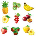 Set of fruit Royalty Free Stock Photos
