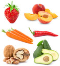 Set fruit Stock Photos