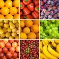 Set of fruit backgrounds Stock Photos