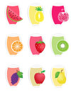 Set fruit fruit juice icons Stock Image