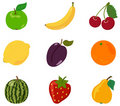 Set fruit, icon Stock Image