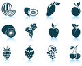 Set of fruit icon eps vector illustration without transparency Royalty Free Stock Image