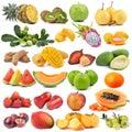Set Of Fruit Isolated On White...