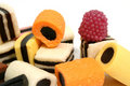 Set of fruit sweets in the form of beaters of various color Royalty Free Stock Photo