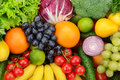 Set fruit and vegetable background Royalty Free Stock Photos