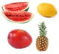 Set of fruits Royalty Free Stock Photo