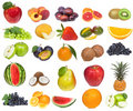 Set with fruits and berries Royalty Free Stock Images