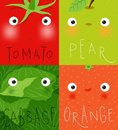 Fruits and vegetables muzzles tomato, pear