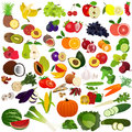 Set fruits and vegies illustration of with white background Royalty Free Stock Image